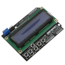 5Pcs Keypad Shield Blue Backlight For Arduino Robot LCD 1602 Board