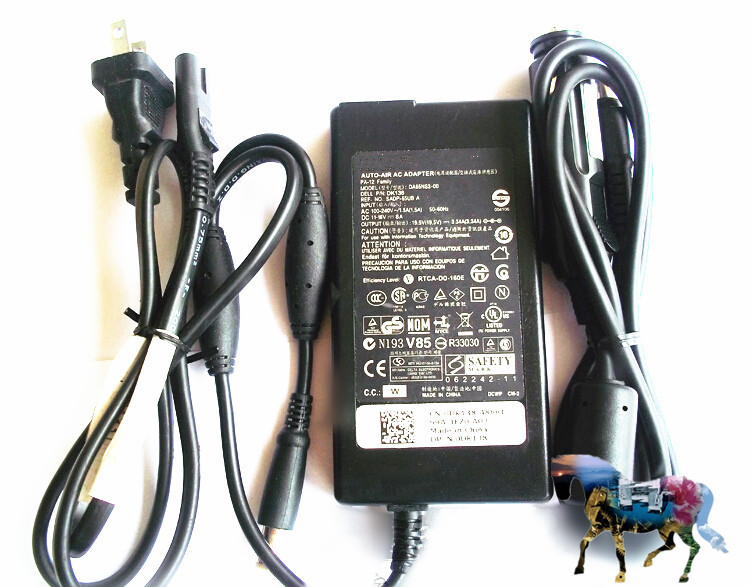 Used Genuine Charger For Dell Dk138 65w Pa 12 Slim Auto