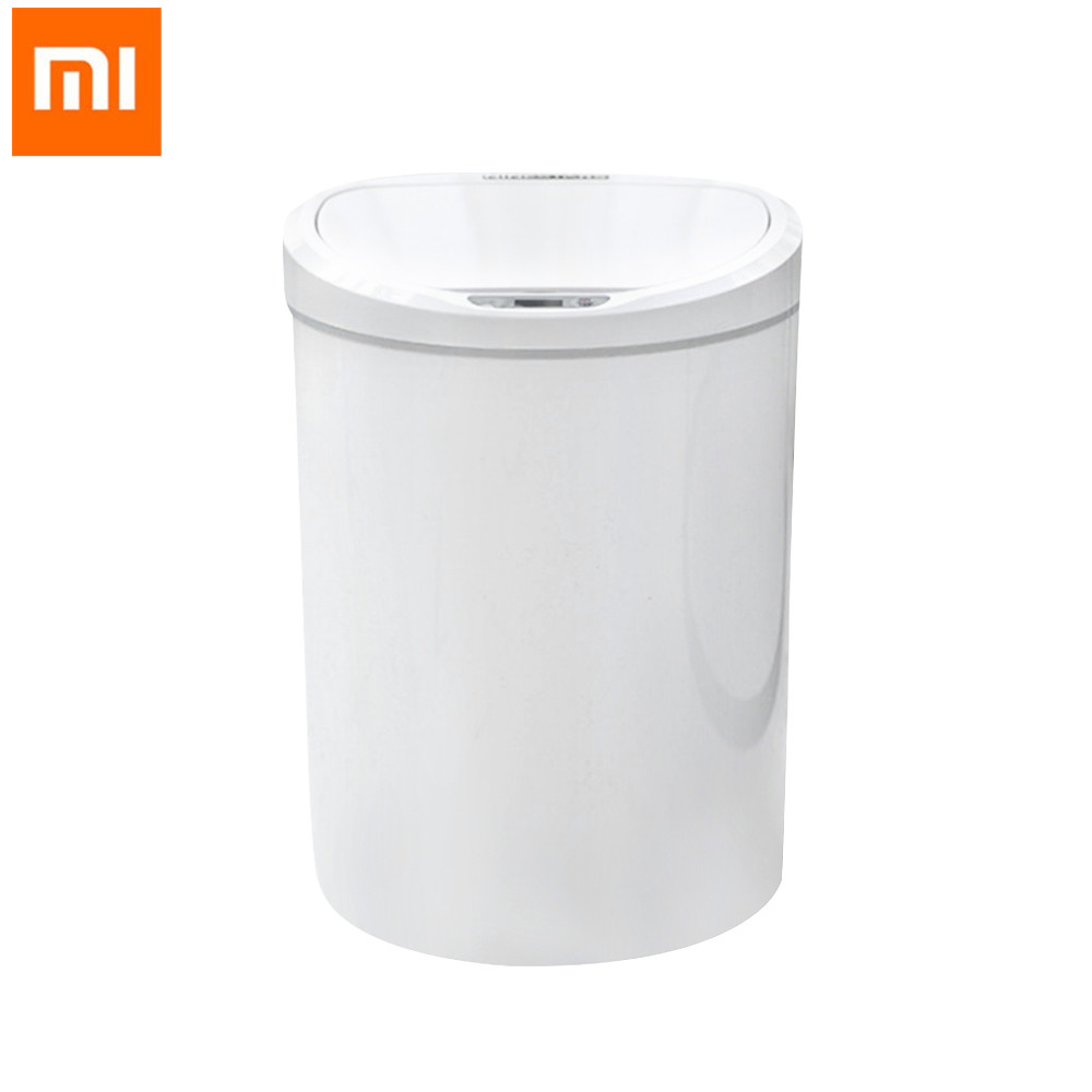Xiaomi NINESTARS Intelligent Induction Trash Can for Kitchen Living Bathroom Automatic Infrared Motion Sensor Rubbish Waste