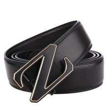 Fashion Brand Leather Belt Business Trouser Strap Pant Ceinture Homme Cowskin Automatic Buckle Cowhide Men Belts