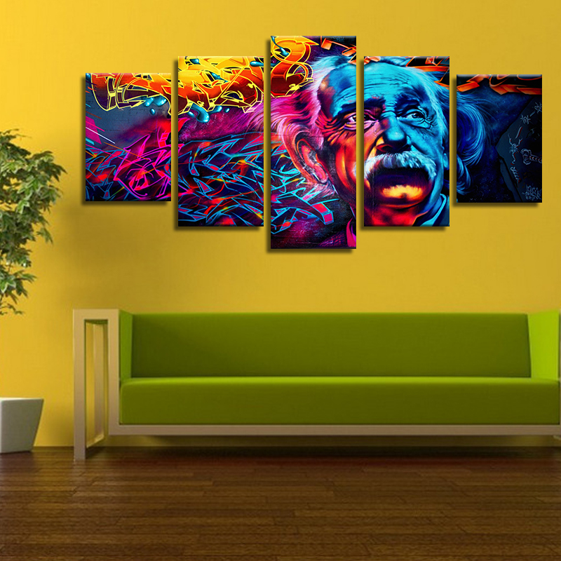 Abstract Colorful Unframed Modern Huge Wall Decor Art On Canvas ...