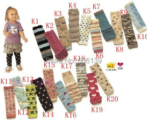 Fashion toddler kids knee pad stocking children baby boys girls cotton Leg Warmers 12pair/lot mix order Free Shipping
