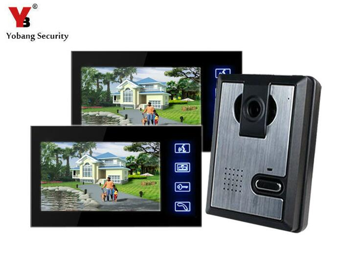 Yobang Security 7Touch Video Doorphone Visual Intercom Doorbell Night Vision Home Security for Villa Doorbell IR Camera Monitor 7 tft lcd color video doorphone doorbell intercom system with ir camera night vision for villa home apartment