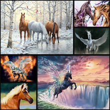 5d diy full diamond painting cross stitch animal horse 3D diamond embroidery artwork home decor kit