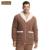 Qianxiu pijamas de marca invierno espesar ocasional pijama ajustado más el tamaño mujeres y hombres salón Cardigan desgaste