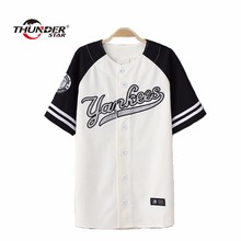 Summer Hip Hop Fashion Baseball T shirt Korean style Loose Unisex Mens Womens Tee Tops Tide mujeres camiseta Street T-Shirts Tee