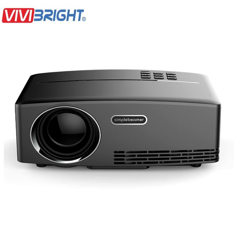 Vivibright мини-проектор GP80 800*480 HDMI и USB светодиодный проектор Proyector Projetor Домашний медиа-плеер Мультимедиа