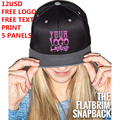 Personalizado snapback chapéu 5 painéis livre logotipo do texto foto imprimir homens mulheres crianças moda equipe hiphop personalizado família frete grátis