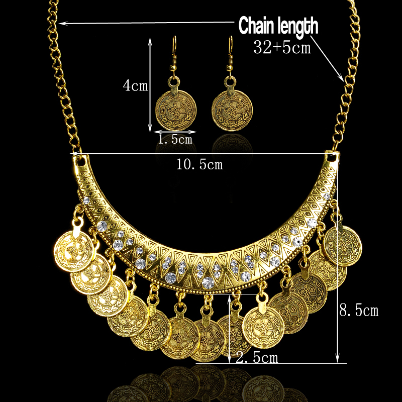 Hot Sale Bohemian Vintage Chokers Necklace Fashion Ethnic Carved Coins Nice Necklaces for Women Fine Jewelry Colar