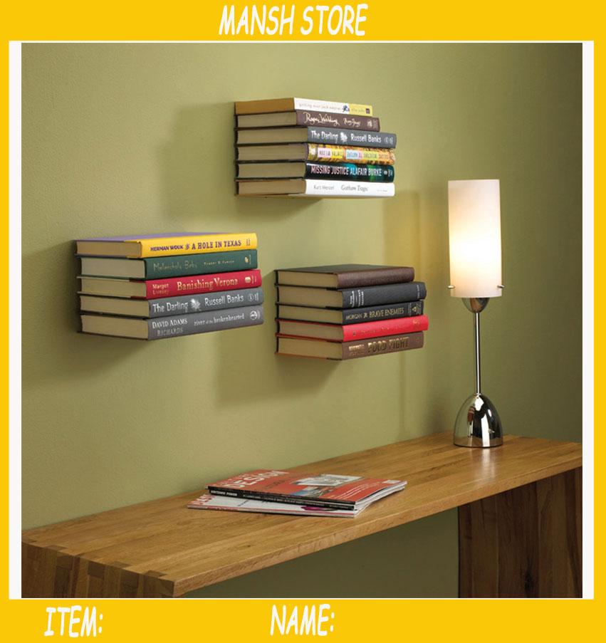 Iron Book Bracket Wall Shelf Hidden Wall Book Storage Free Shipping In  Brackets From Home Improvement On Aliexpress.com | Alibaba Group