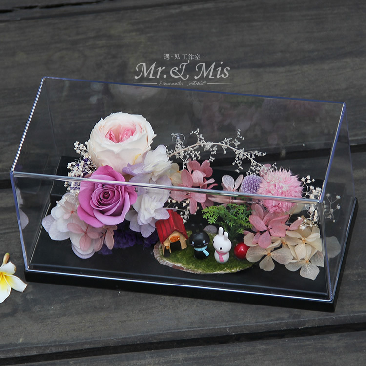 Flower Preservation Glass Preserved Boxes Roses Micro Landscape Acrylic Wedding Gift In Womens Watches From On