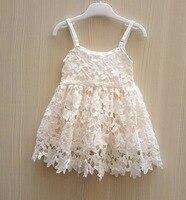 בנות תינוק חדשות במסרגה אחת תחרת שמלות ילדי ילדה 2016 לקדש את גופיית שמלת תינוקות בגדי קיץ ילדי שמלת נסיכת טוטו