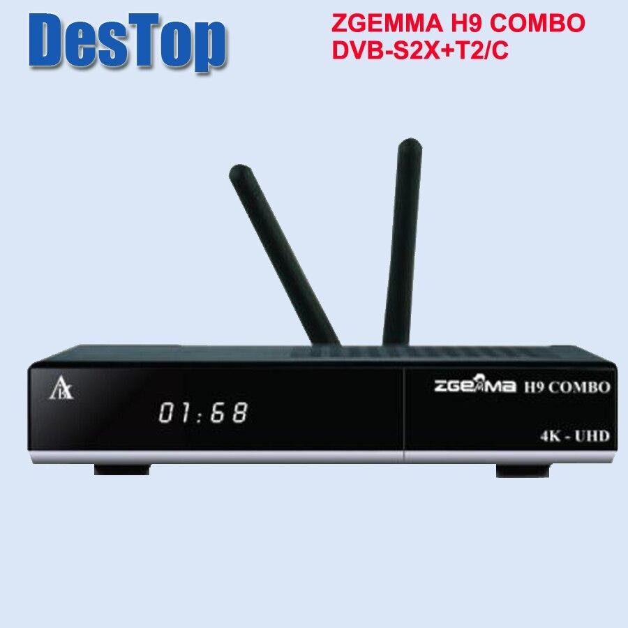 2019 NEW 4K UHD ZGEMMA H9 COMBO Reveiver Linux OS 2 WiFi Internal 2 Ci Plus