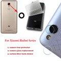 Para xiaomi redmi note 3/2/4/pro/prime/mi/max/mi5/3 s/3x/4a/mi4s câmera traseira lente de vidro de substituição tampa traseira adesivo de proteção