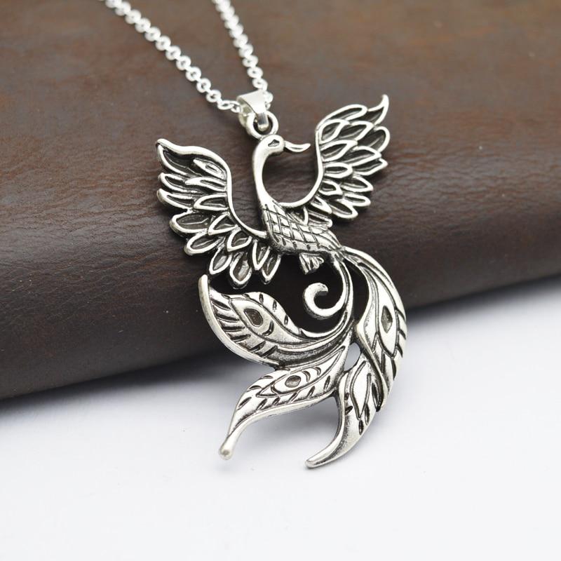 1pcs Large Phoenix Necklace Chinese Ancient Fire Bird