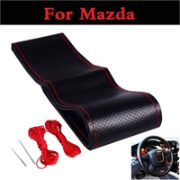 38cm Genuine Leather Car Steering Wheel Cover Case For Mazda 6 MPS 2 3 3 MPS