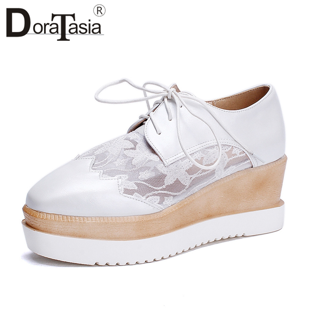 Square Comodo Donna Blu Flats Bianco Primavera Up Casual Doratasia New Rosa Toe Suole Flat Fashion Bianco Estate Zeppe Shoes Lace Autunno vnnEqa7x