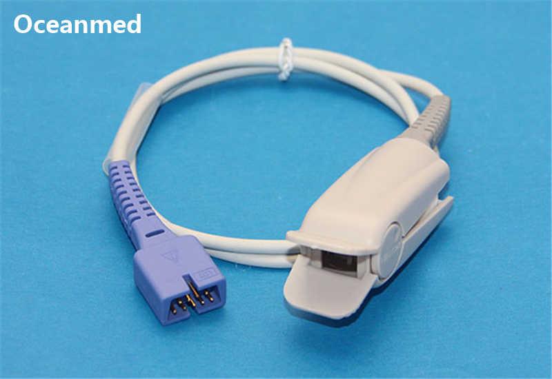 Nellcor DS100A Compatible Pulse SpO2 Sensor Adult Finger Clip for NPB-195,  Oximax 9 Pins, Short 1m/3ft Cable