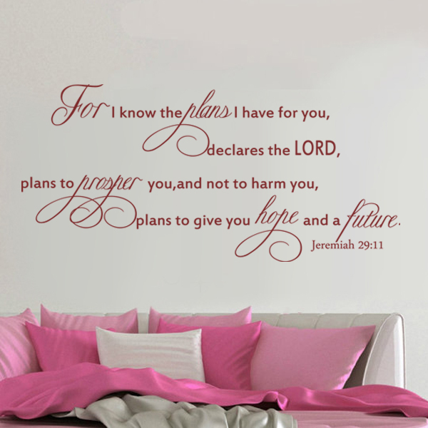 Scripture Wall Decal For I Know The Plans I Have For You