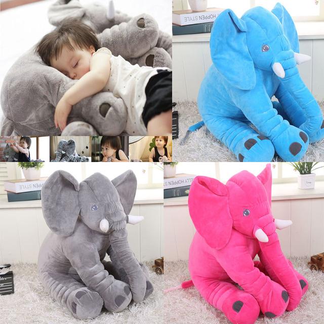 Bebe infantil Travesseiro Elefante Estilos Macio Apaziguar Bebê Travesseiro Do Bebê Calmo boneca Brinquedos Do Bebê Cama Do Sono Do Bebê Almofada Do Assento de Carro Crianças Travesseiro