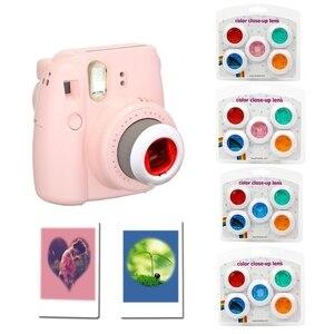 Image 2 - Fujifilm Instax Mini 7 s/8/8 +/9 Film Kamera 5 Adet Renk Filtresi Yakın Çekim lens