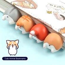 Милый мультяшный Кот Лиса хомяк собака попка закладки Новинка книга для чтения элемент креативный подарок для детей Детские канцелярские принадлежности