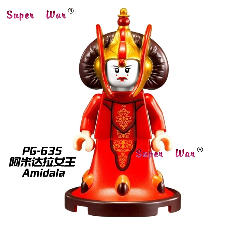50pcs superhero Queen Padme Amidala SW387 building blocks bricks friends for girl boy house kids children