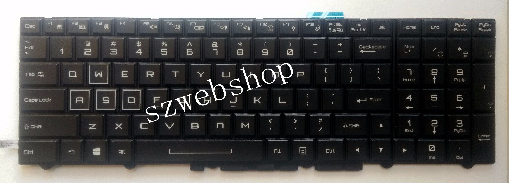 New for clevo X711 PLUS X911 English US laptop keyboard colorful backlit black us black new english replace laptop keyboard for dell latitude z600