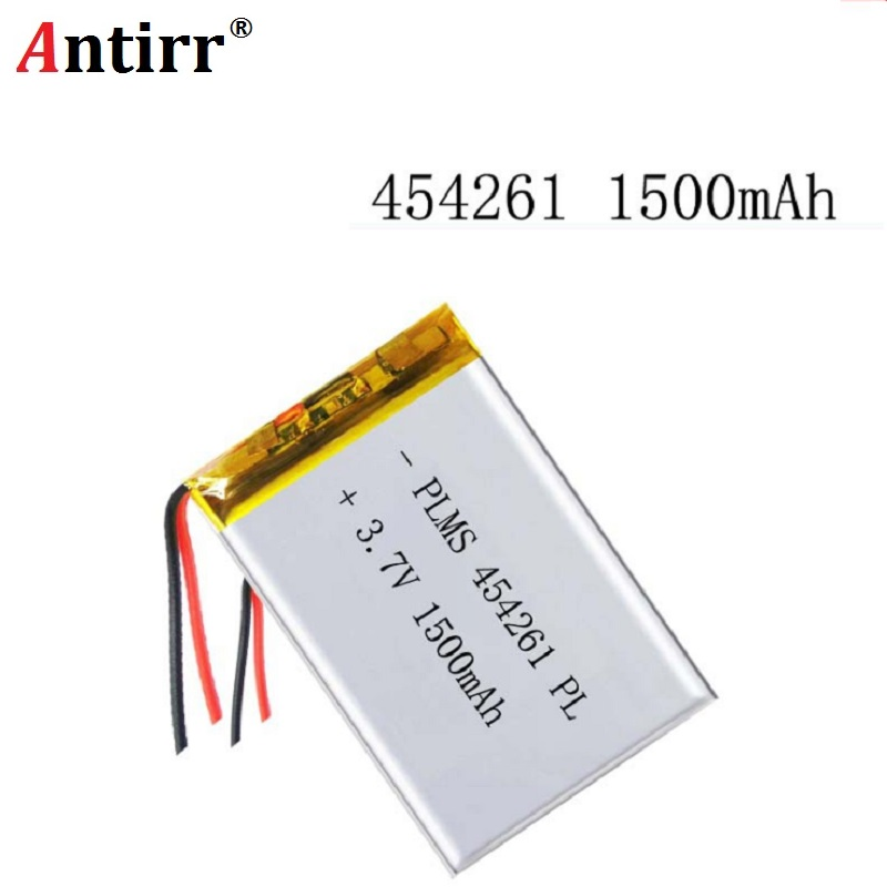 3.7V 1500mAh 454261 Lithium Polymer Li-Po li ion Rechargeable Battery cells For Mp3 MP4 MP5 GPS PSP mobile bluetooth 503030 3 7v 500mah 453030 lithium polymer rechargeable battery li po li ion for mp3 dvd camera gps bluetooth electronics