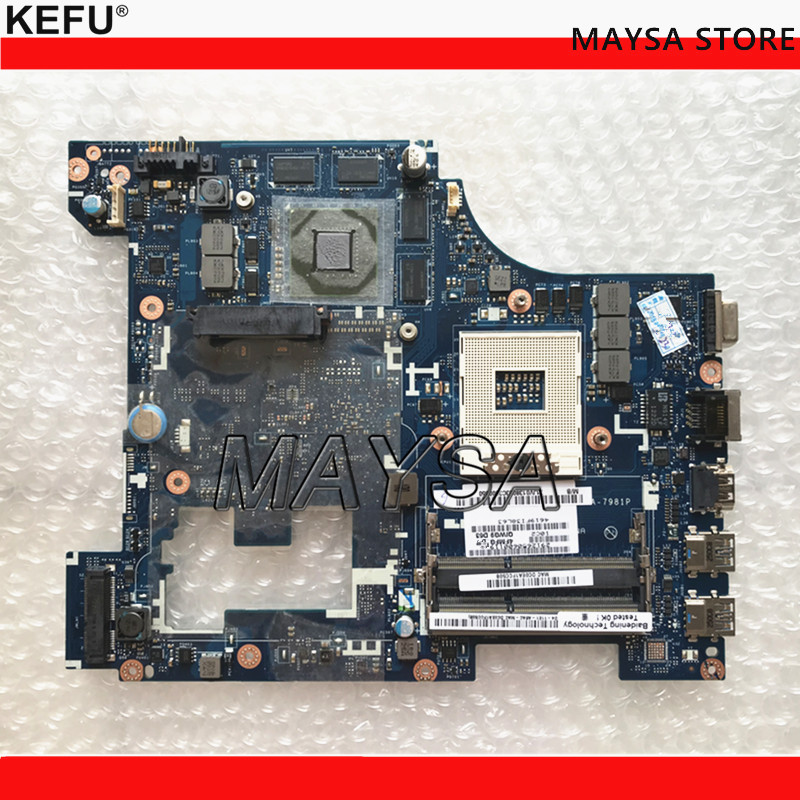 QIWG5 LA-7981P Main Board Fit For LENOVO IDEAPAD G580 Laptop motherboard, DDR3, USB3.0 HDMI la 7982p laptop motherboard for lenovo g580 p580 p585l main board hm76 gma hd ddr3