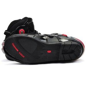 Image 3 - Moto rcycle kostki buty wyścigowe speed BIKERS skórzane wyścigi konna street obuwie na motor moto rbike Touring Chopper ochronny sprzęt buty