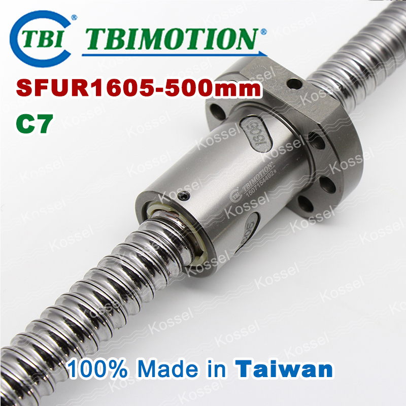 TBI CNC diy kit SFU ballscrew SFU1605 C7 500mm ball screw 5mm lead with SFU 1605 ball nut with end machined for high stability tbi dfi 2505 600mm ball screw milled ballscrew and end machined for high stability linear cnc diy kit
