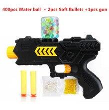 400pcs+gun water ball Orbeez balls Soft Paintball Gun Pistol Soft Bullet CS Water Crystal Gun Air Airgun gel balls beads