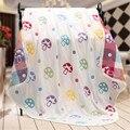 Towel suave mantas de bebé recién nacido auper selimut lucu toallas niño impresión de la tela de muselina de algodón toalla de baño de gasa towel para bebés y niños 50A049