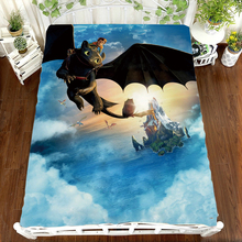 How to Train Your Dragon Anime Printing bed Sheet Toothless Cartoon anime Children  Bed Linen (NO cover pillowcase)