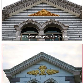 H50 * L260cm (19,69 * 102.36in) GRC ABS Ala De Ángel Y Crisantemo Pétalo Prefabricado Decoración Del Hogar/Villa Pared De Hormigón Aplique Molde