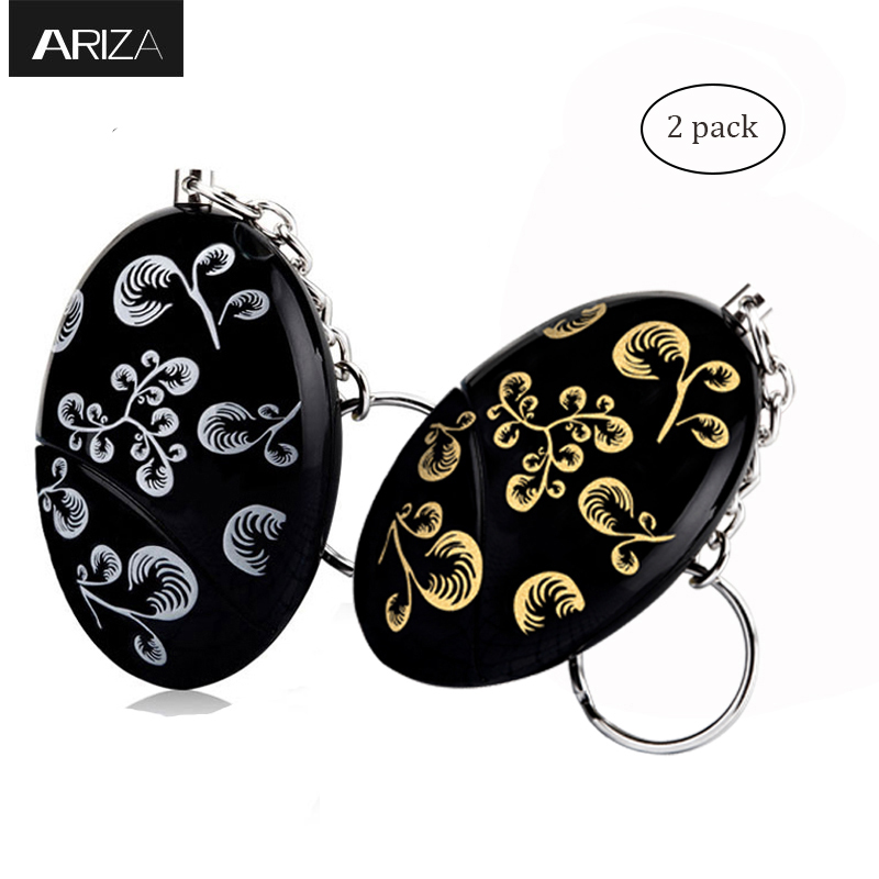 Ariza 2pcs personal alarm keychain panic alarm self defense supplies emergency anti-attack security alarm women safety alarm 2016 2pcs a lot self defense supplies alarm personal key ring protection alarm alert attack panic safety security rape alarm
