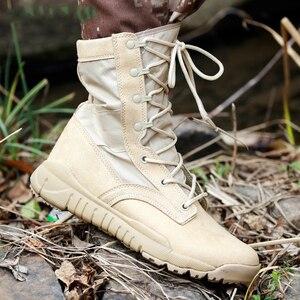 Image 4 - Outono ultra leve botas táticas masculinas forças especiais botas militares masculino ao ar livre à prova dwaterproof água antiderrapante caminhadas sapatos de viagem