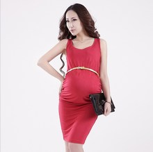 Sleeveless Maternity Clothes Summer Maternity Dress Fashion Knee-Length Maternity Clothing Pregnant Women Dress BB71
