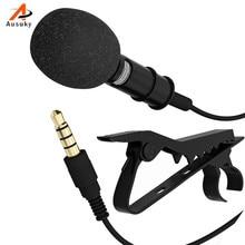 Новое прибытие клип-на воротник галстук мобильный телефон петличный микрофон Микрофон для iOS ноутбук планшет ПК записывающий ручка сумка из полиуретана-5