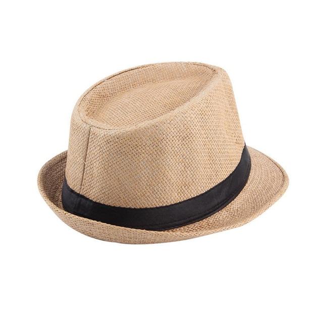 52ebae5d814 Muticolor Summer Bucket Hat Men Women Straw Hat Beach Sunhat Fedora Trilby  Straw Panama Gangster Caps