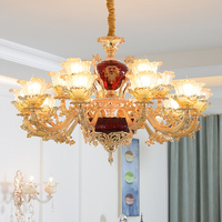 Red Chandelier Crystal Lamp Modern LED Ceiling Chandelier Lighting Living Room Bedroom Chandeliers Creative Home Lighting