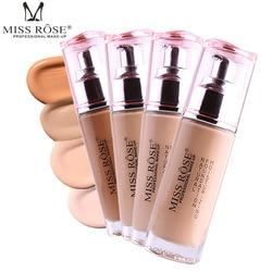 Professional Bases Make Up Liquid Foundation Long Lasting Brighten Dark Skin Contour Face Foundation MISS ROSE Makeup Cream