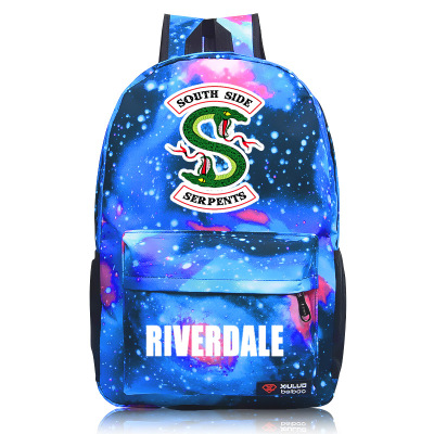 Hot Riverdale South Side Serpents Backpack Shoulder Travel School Bag Bookbag For Teenagers Men Women Casual Laptop Bags