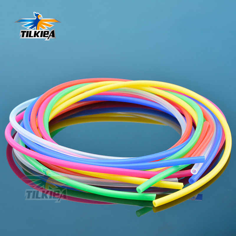 3mm*5mm Colorful Water Cool Tube Silicone Watercol Tube Heat Resistant Tubes For RC Electric Boat Gas Methanol  Length 1 Meter
