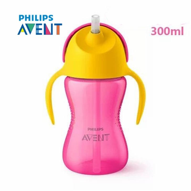 Avent 300ml 10oz Bpa Free Cute Baby Straw Cups Kids Water