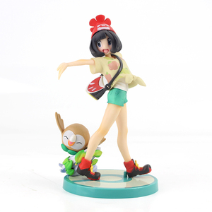 Image 4 - 20cm Anime Trainer Action Figure Gary Oak Lyra Selene Touko Mei Eevee Chikorita Rowlet Tepig Snivy ARTFX Model Toy Gift for Kid