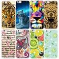 2017 Новый Животных Цветы Фрукты Pattern Телефон Case Для iPhone 7 6 6 S Плюс 5S SE 5 4 4S ТПУ Силиконовый Чехол Случаях Fundas Coque