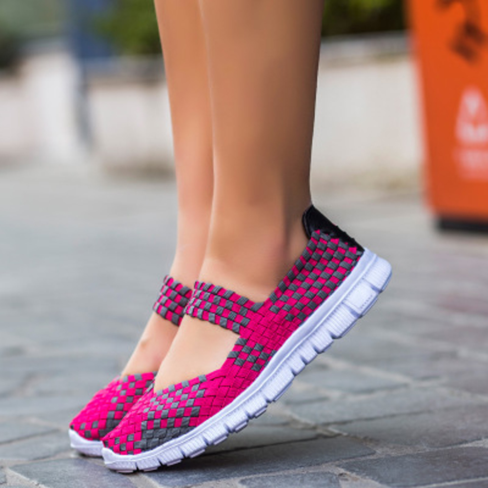 Lightweight Breathable Casual Shoes Woman Vulcanize Shoes Knit Mesh Soft Sneaker Running Sneakers Flats Black Pink Womens ShoesLightweight Breathable Casual Shoes Woman Vulcanize Shoes Knit Mesh Soft Sneaker Running Sneakers Flats Black Pink Womens Shoes
