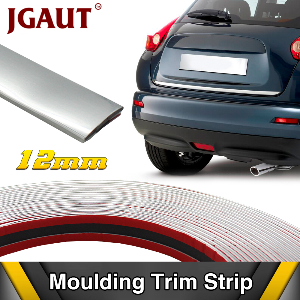 15m*4/6/8/10/12/15/18/20/25/30mm Car Body Window Door Grill Radio Trim Decoration Protector Chrome Silver Moldings Strip